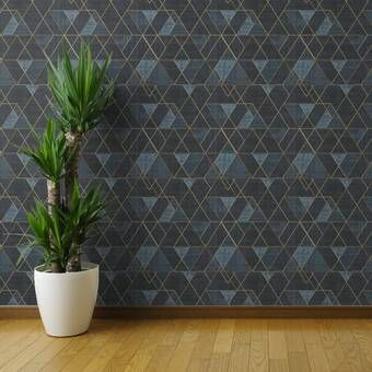 Ivy Bronx Lofton Geometric Removable Peel And Stick Wallpaper Panel Wayfair Wallpaper Panels Stencils Wall Peel And Stick Wallpaper