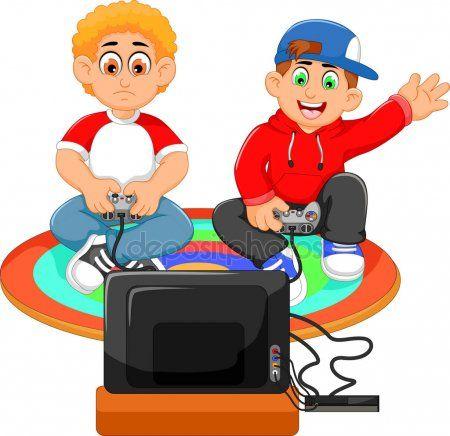 Gracioso Dos Chicos Jugando Playstation Boys Playing Kids Nutrition Coffee Health Benefits