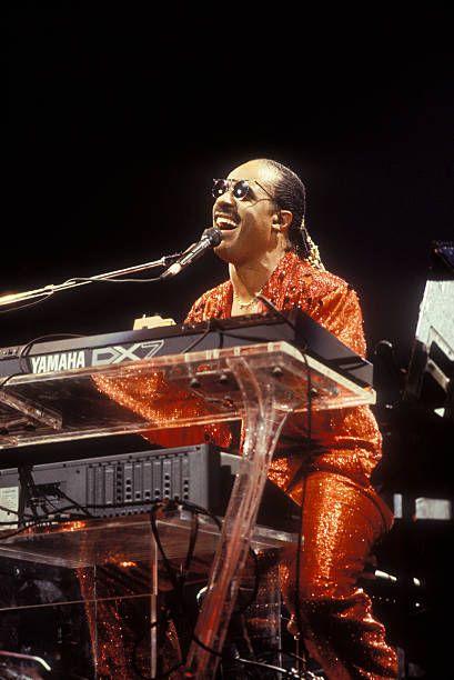 American Musician Stevie Wonder Performs On An Episode Of Saturday Stevie Wonder Stevie Wonder