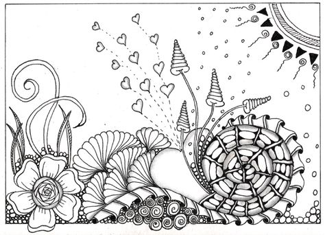 Just discovered Zentangle en doodling
