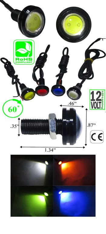 3 Watt Led Indicator Panel Mount 12vdc Automotive Low Voltage Ledlight Led Led Panel Led Indicator