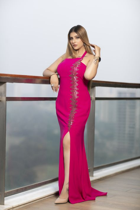 This hot pink number with a thigh high slit is a reason to party! Place your order via call or WhatsApp: +91-9899955526 Or visit us: The Magnolias, Magnolias Rd, DLF Cyber City, Sector 42, Gurugram . . #shaliniarora #weddingcouture #couture #weddingoutfits #bridesmaidsoutfits #designerwearindelhi #boutique #designerweardelhincr #weddingseason #weddingseason2020 #weddingoutfitsinspo #ootd #indianweddingwear #indianweddingoutfits #weddinginspo #bridalwear #bridalweardelhi #trousseau