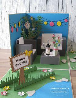 Geschenkgut Gutschein Verpacken Garten Geburtstagskarte Diy Gutschein Basteln Garten