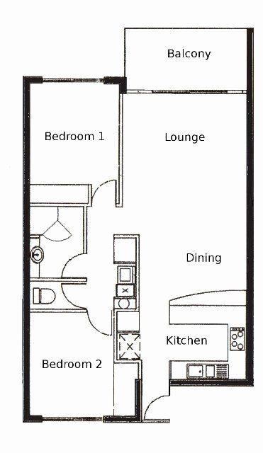 Bedroom Floor Plan Ideas Lovely 2 Bed Apartment Plan Desain Apartemen Denah Lantai Denah Rumah 2 Kamar Tidur