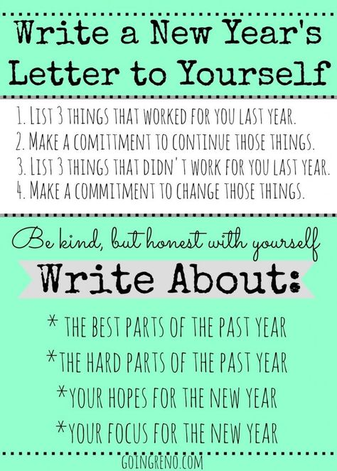Start A New YearS Tradition Of Writing A Letter To Yourself To