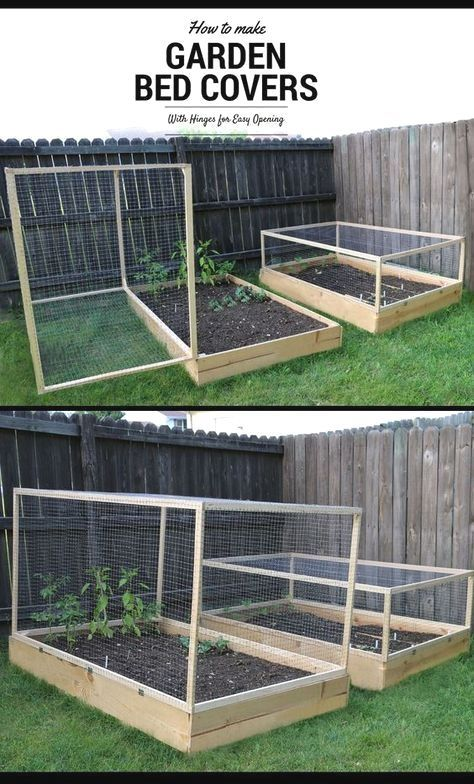 How To Make A Raised Garden Bed Cover With Hinges Vegetable