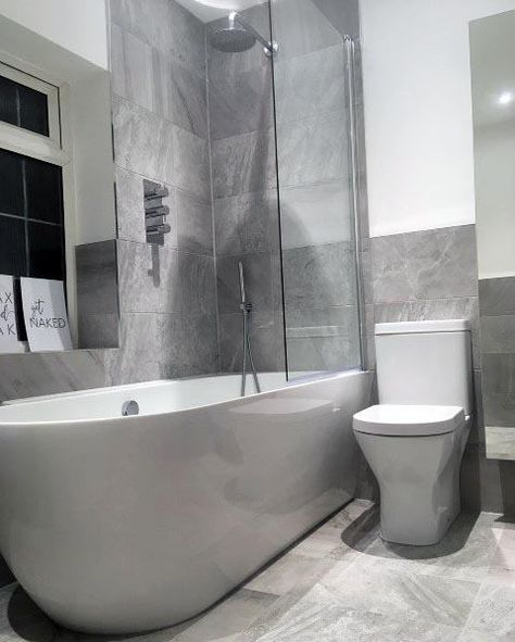Top 60 Besten Grauen Badezimmer Ideen Interior Design