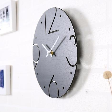 Elestren Modern Minimalist Clock Wooden Clock Minimalist Clocks Vintage Wall Clock
