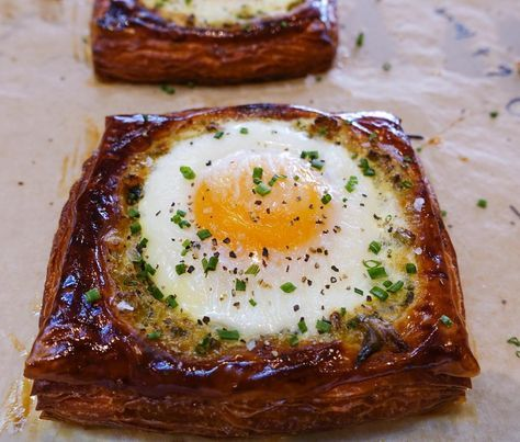 Recent Work Brunch Croissant This Egg Rests On A Bed Of