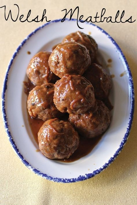 Mouthwatering Welsh meatballs. | 23 Classic British Dishes To Keep You Warm Through The Long, Dark Winter