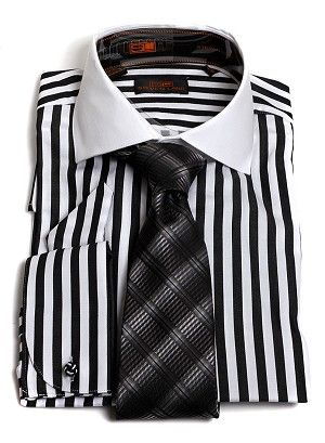 Buy Black And White Mens Dress Shirt 52 Off Share Discount