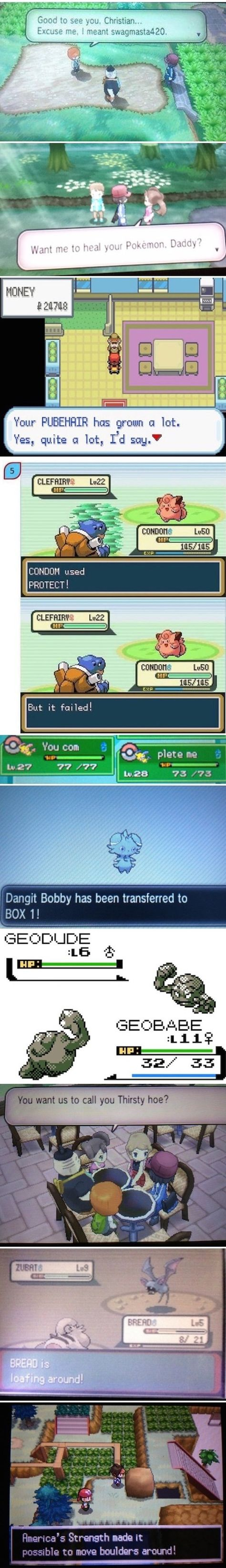 Playing With Names in Pokémon lol