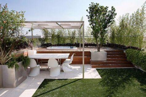 Terrazzo Con Scalini Al Giardino Giardino Pensile Sul