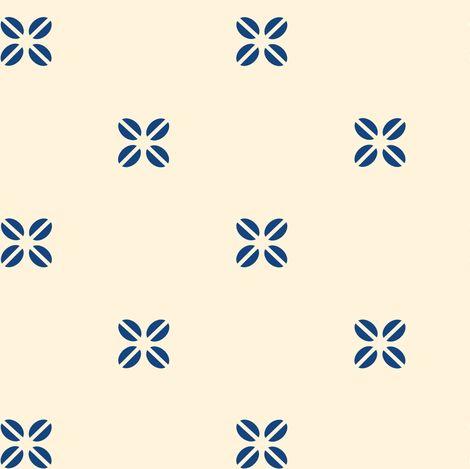 Colorful Fabrics Digitally Printed By Spoonflower Kenya Cross Blue On Creme Spoonflower Prints Colourful Fabrics