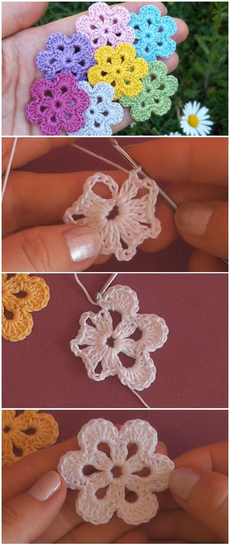 Simple Crochet Beautiful Flowers -  -