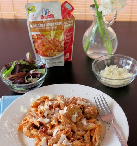 Chicken Meatballs and Pasta Rosé #McSkilletSauce #WeekdaySupper |Cindy's Recipes and Writings