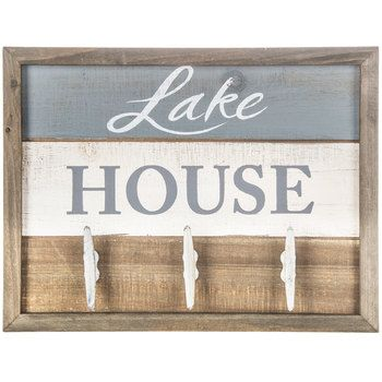 Get Lake House Wood Wall Decor With Hooks Online Or Find Other Hooks Products From Hobbylobby Com In 2020 Lakehouse Decor Lake House Signs Lake House