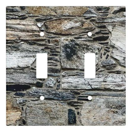 Stone Patterned Double Toggle Light Switch Gbo Stones Diy Cyo Gift Idea Special Stone Pattern Toggle Light Switch Light Switch Covers