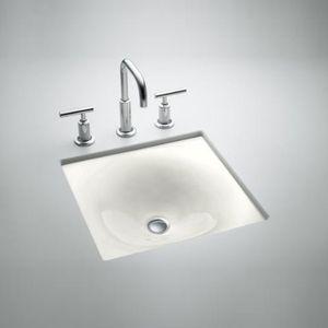 Kohler K2827 0 Iron Tones Undermount Style Bathroom Sink White