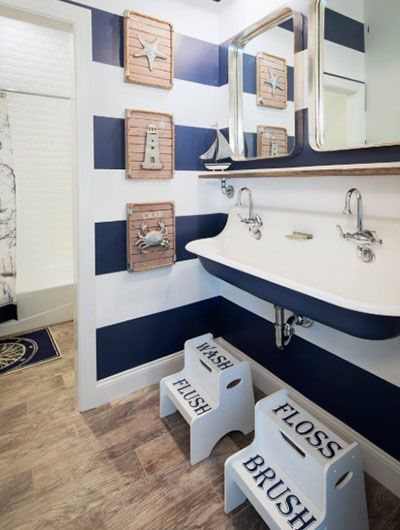 31 Nautical Coastal Beach Bathroom Decor Ideas In 2020 Nautical