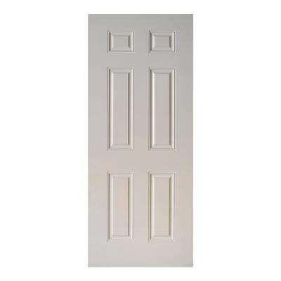 31 3 4 In X 79 In 6 Panel Primed White Fiberglass Front Door Slab Fiberglass Front Door Fiberglass Door Slab Door
