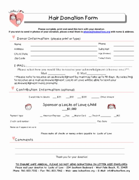 Donation Form Template Word Best Of 36 Free Donation Form Templates In Word Excel Pdf Donation Form Funeral Program Template Receipt Template