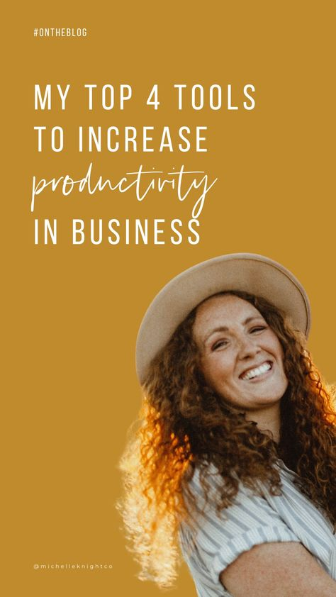My top 4 tools to increase productivity in business