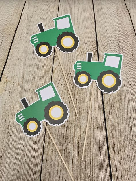 John Deere Birthday Inspired Tractor Party Centerpiece Decorations - Lot of 10