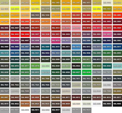 Shameer Kader (shah_sup) on Pinterest - ral color chart