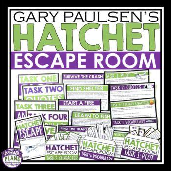 Hatchet Escape Room Novel Activity Help Your Students Review Plot Character Conflict Charact Hatchet Book Activities Hatchet Book Study Hatchet Novel Study