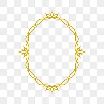 Elegant Oval Rounded Frame With Luxury Gold Colors Can Be Used For Wedding Invitation Greeting Card Template Business Card Gold Luxury Frame Png And Vector W Royal Frame Greeting Card Template