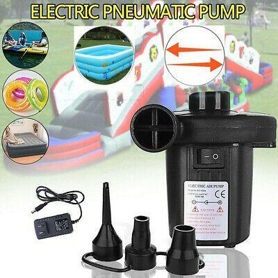 Electric Air Pump Quick Fill Portable Inflator Deflator Air Mattress Pump Ebay In 2020 Portable Air Pump Pool Toys Air Mattress