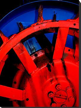 Tractor in Red & Blue by Mark Malinowski