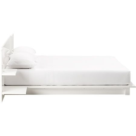 Andes White Storage Bed Cb2 In 2020 Full Bed With Storage Bed California King Bedding