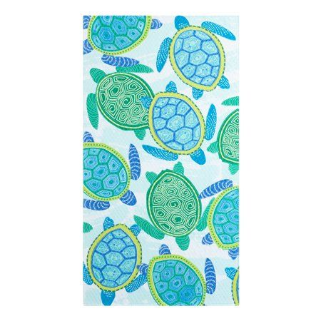 Home Beach Towel Oversized Beach Towels Tribal Turtle