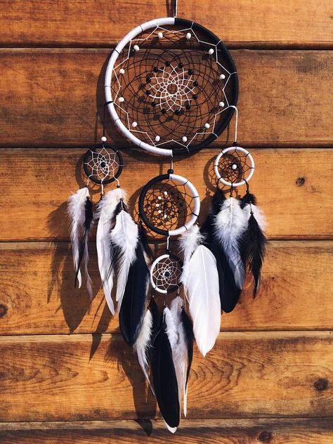 Cyber week sale Christmas gift for her Dream catcher Black | Etsy