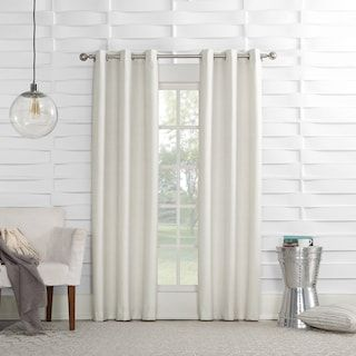 No 918 1 Panel Montego Casual Textured Grommet Window Curtain