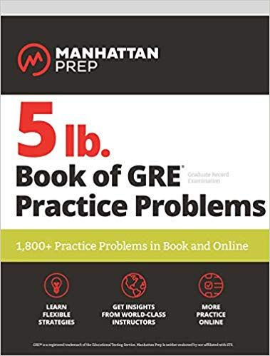 Pdf Download 5 Lb Book Of Gre Practice Problems 1 800