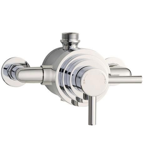 Orion Dual Exposed Thermostatic Shower Valve Chrome Shower