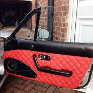 Quilted Leather Door Panels Handmade For Miata Na Mk1 The Ultimate Resource For Mazda Miata Parts Miata Leather Panel Doors
