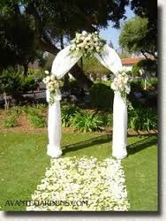 Celebrate it occasions pre lit arch backdrops reception and image result for how to decorate a metal wedding arch junglespirit Images