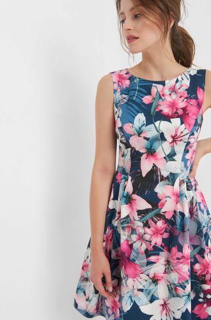 Sukienka W Kwiaty Niebieski Dresses Casual Dress Fashion Dresses
