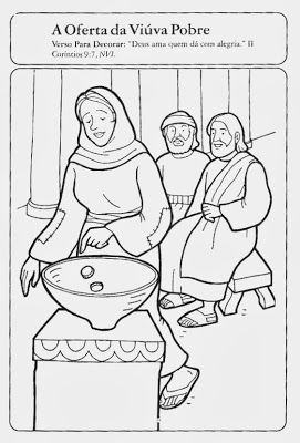 Cantinho Das Historias Biblicas Historia Biblica Uma Viuva Da A