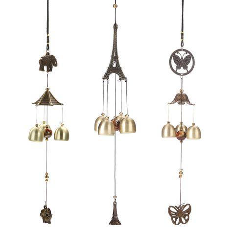 Métal Bells Wind Chime Garden Jardin Charm Hanging Feng Shui Ornement de