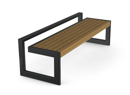 Interesting Design Of Benches Without Backrest