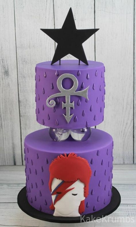 David Bowie and Prince - Cake by Kake Krumbs