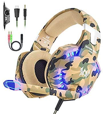 Versiontech Gaming Headset For Ps4 Xbox One Pc Amazon Co Uk Electronics Gaming Headset Best Gaming Headset Wireless Gaming Headset