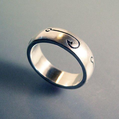 Fish Hook Fishing Ring Or Fishing Wedding Band Fishing Etsy Fishing Ring Mechanics Wedding Ring Crystal Bridal Jewelry Sets