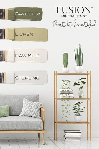 May Color Story Fusion Mineral Paint Bayberry Lichen Raw Silk Sterling Interior Paint Colors For Living Room Fusion Mineral Paint Mineral Paint