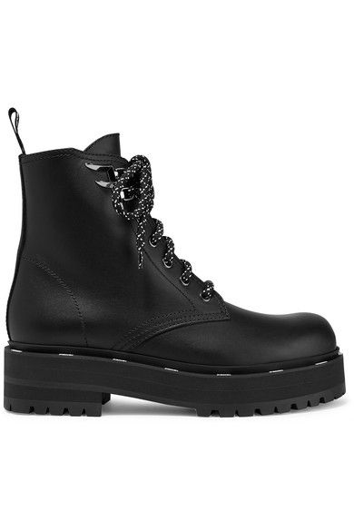 Dsquared2 Boots Leather Black Zwart | Winkelstraat.nl